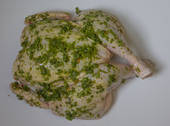 Free Range Chicken Butterflied with Herb spread